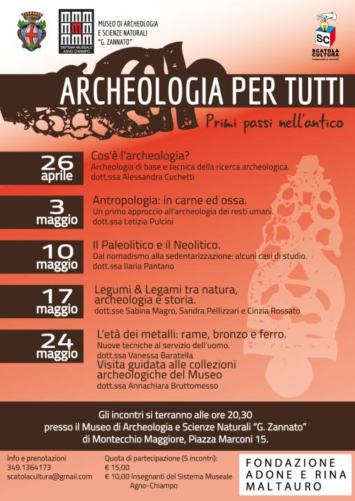 Corso di archeologia al museo Zannato di Montecchio Maggiore