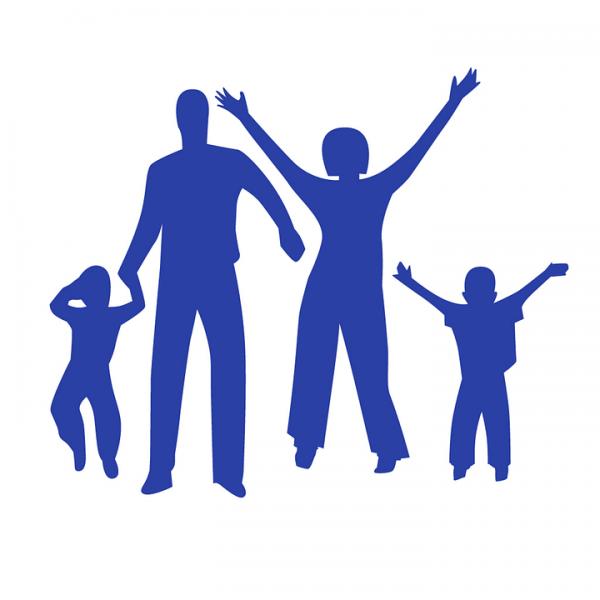 Festa della famiglia con i bambini della scuola dell'infanzia