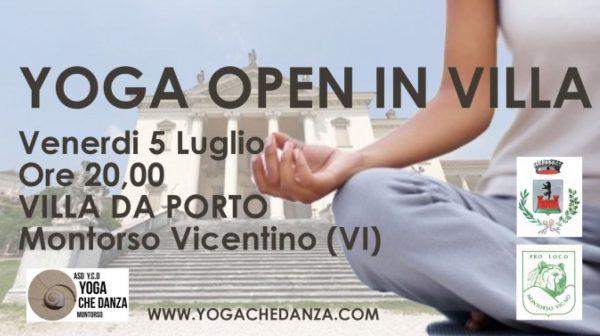 Yoga open in villa