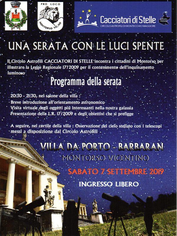Scopriamo il cielo notturno in Villa Da Porto