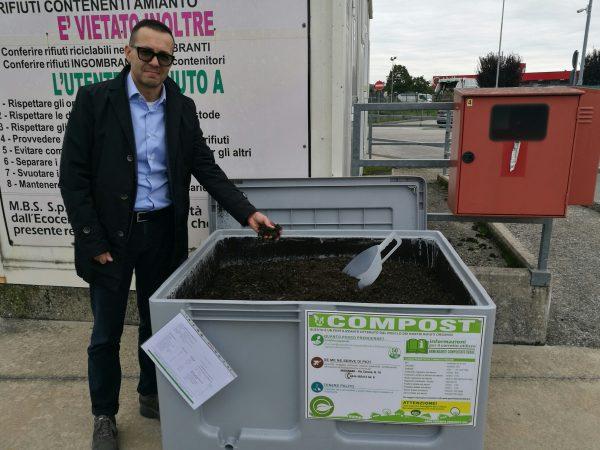 """""""Green compost"""", un aiuto gratuito e naturale per la terra. Agno Chiampo Ambiente tra le prime aziende in Italia ad attivare questo esempio di economia circolare"""