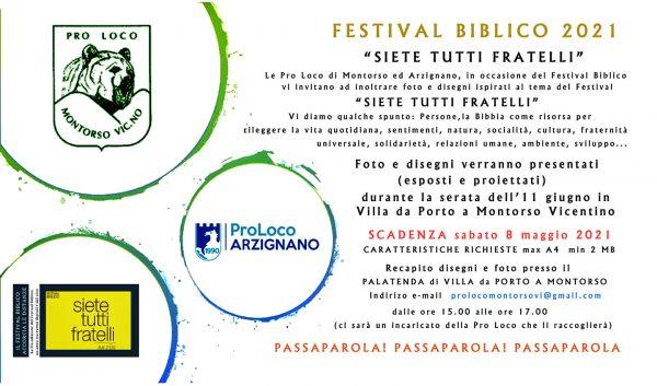 Festival biblico 2021, si può partecipare con foto e disegni: ecco come